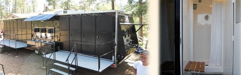 11 Head Shower Trailers
