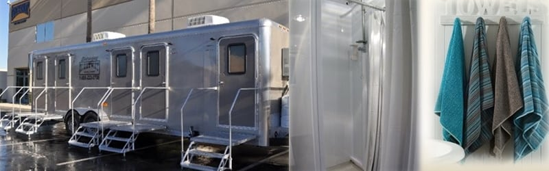 5 Head Shower Trailers